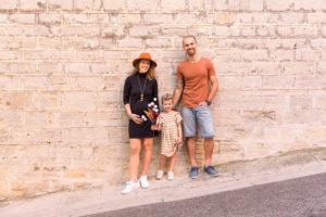 photo de famille aux couleurs d'automne prise dans le var France