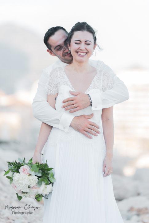 seance photo de couple pour leur mariage a monaco