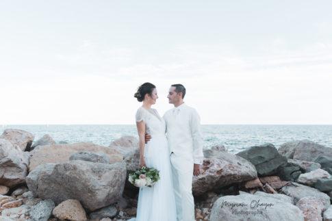 photo d'un couple marie a Monaco