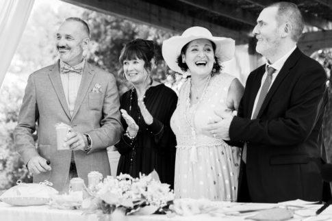 Les parents des mariés lors d'un mariage au Castellet
