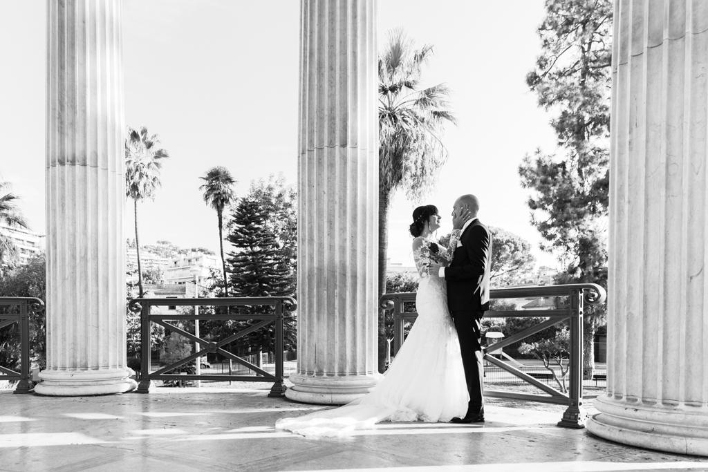 Photo de mariage au Parc Chambrun à Nice
