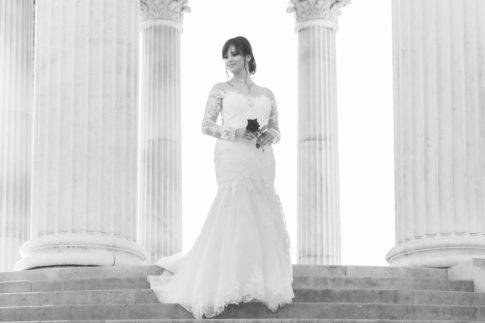 Un mariage entre Nice et le Castellet : Portrait d'une mariée au Parc Chambrun à Nice