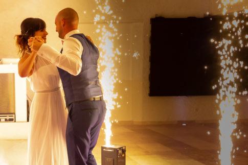 Un mariage entre Nice et le Castellet : Ouverture de bal des mariés au Castellet