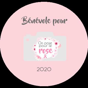 logo de bénévole pour On pose pour le rose